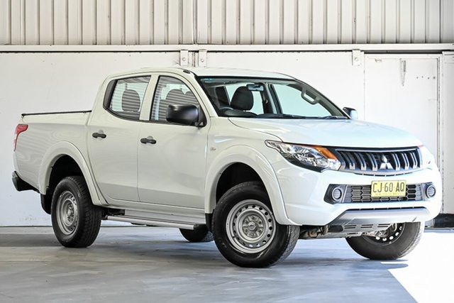 Used Mitsubishi Triton MQ MY17 GLX Double Cab Laverton North, 2016 Mitsubishi Triton MQ MY17 GLX Double Cab White 5 Speed Sports Automatic Cab Chassis