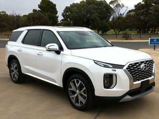 2020 Hyundai Palisade LX2.V1 MY21 Highlander 2WD White Cream 8 Speed Sports Automatic Wagon.