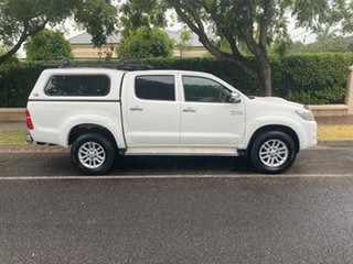 2013 Toyota Hilux KUN26R MY14 SR Double Cab White 5 Speed Automatic Utility