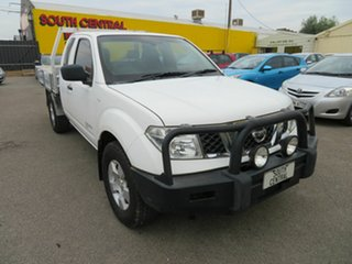 2011 Nissan Navara D40 RX (4x4) White 6 Speed Manual King Cab Chassis.
