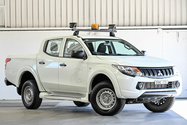 Used Mitsubishi Triton MQ MY17 GLX Double Cab Laverton North, 2017 Mitsubishi Triton MQ MY17 GLX Double Cab White 5 Speed Sports Automatic Cab Chassis