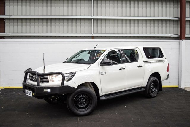 Used Toyota Hilux GUN126R SR Double Cab Canning Vale, 2018 Toyota Hilux GUN126R SR Double Cab White 6 Speed Sports Automatic Utility