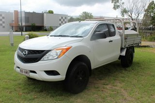 2013 Mazda BT-50 UP0YF1 XT Freestyle 4x2 Hi-Rider White 6 Speed Manual Cab Chassis.