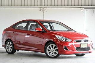2017 Hyundai Accent RB5 MY17 Sport Red 6 Speed Sports Automatic Sedan.