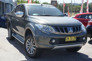 2017 Mitsubishi Triton MQ MY17 GLS Double Cab Green 5 Speed Sports Automatic Utility.