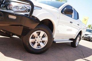 2016 Mitsubishi Triton MQ MY16 Upgrade GLX Plus (4x4) White 5 Speed Automatic Dual Cab Utility.