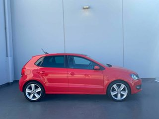 2013 Volkswagen Polo 6R MY13.5 66TDI DSG Comfortline Red 7 Speed Sports Automatic Dual Clutch.