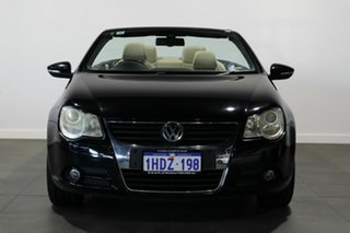 2008 Volkswagen EOS 1F MY09 147TSI DSG Black 6 Speed Sports Automatic Dual Clutch Convertible.