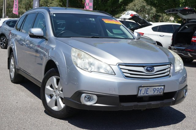 Used Subaru Outback B5A MY12 2.5i Lineartronic AWD Phillip, 2012 Subaru Outback B5A MY12 2.5i Lineartronic AWD Silver 6 Speed Constant Variable Wagon