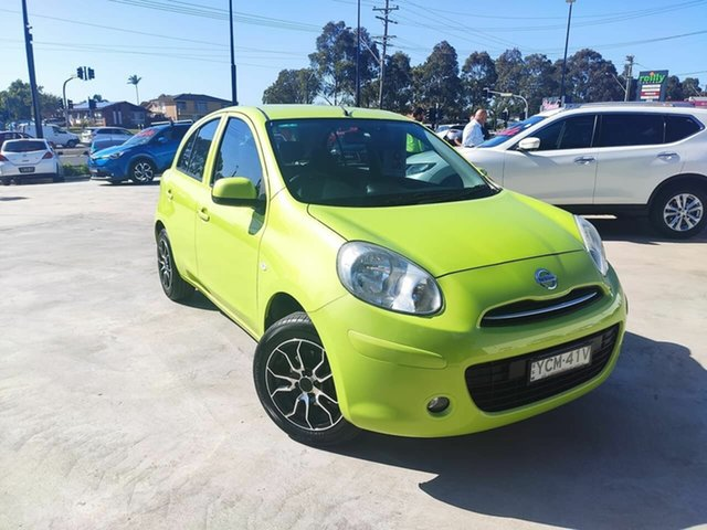 Used Nissan Micra K13 MY13 ST-L Liverpool, 2013 Nissan Micra K13 MY13 ST-L Green 5 Speed Manual Hatchback