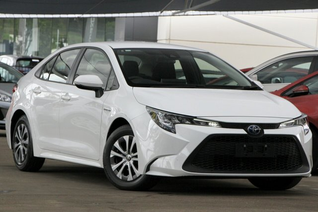 Used Toyota Corolla ZWE211R Ascent Sport E-CVT Hybrid Bundamba, 2019 Toyota Corolla ZWE211R Ascent Sport E-CVT Hybrid White 10 Speed Constant Variable Sedan Hybrid