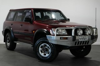 2001 Nissan Patrol GU II ST Red 5 Speed Manual Wagon.