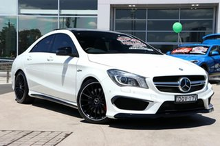 2014 Mercedes-Benz CLA-Class C117 CLA45 AMG SPEEDSHIFT DCT 4MATIC White 7 Speed.