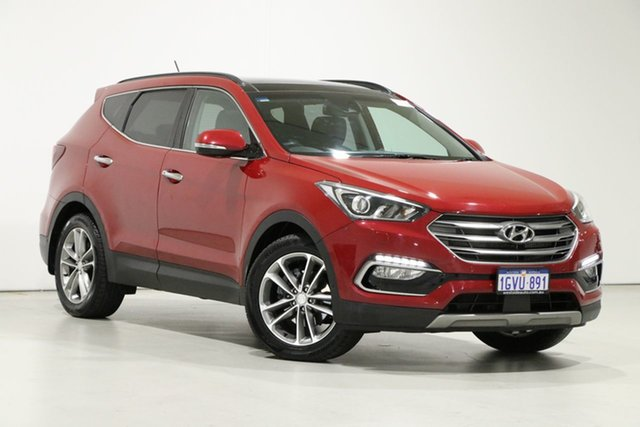 Used Hyundai Santa Fe DM Series II (DM3)MY17 Highlander CRDi (4x4) Bentley, 2016 Hyundai Santa Fe DM Series II (DM3)MY17 Highlander CRDi (4x4) Red 6 Speed Automatic Wagon