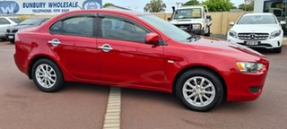 2009 Mitsubishi Lancer CJ MY09 ES Red 6 Speed Constant Variable Sedan.