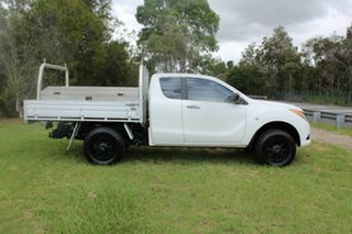 2013 Mazda BT-50 UP0YF1 XT Freestyle 4x2 Hi-Rider White 6 Speed Manual Cab Chassis