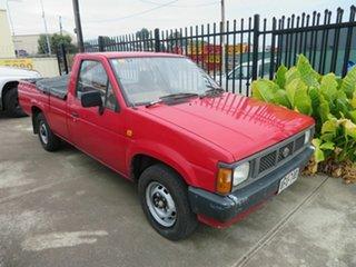 1991 Nissan Navara Red 4 Speed Automatic Utility.