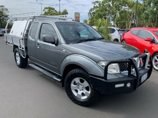 2009 Nissan Navara D40 ST-X King Cab Grey 5 Speed Automatic Cab Chassis.