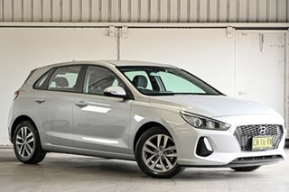 2017 Hyundai i30 PD MY18 Active D-CT Silver 7 Speed Sports Automatic Dual Clutch Hatchback.