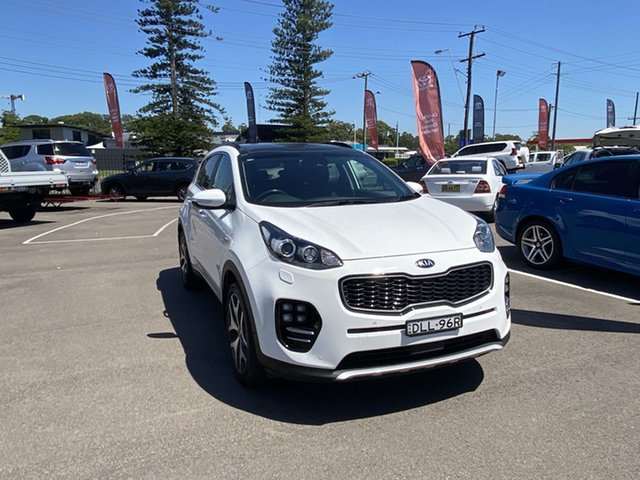 Pre-Owned Kia Sportage QL MY17 GT-Line AWD Cardiff, 2016 Kia Sportage QL MY17 GT-Line AWD White 6 Speed Sports Automatic Wagon