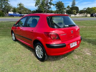 2003 Peugeot 307 T5 MY03 XSE Red 4 Speed Sports Automatic Hatchback