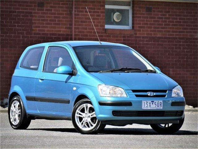 Used Hyundai Getz TB GL Cheltenham, 2004 Hyundai Getz TB GL Blue Manual Hatchback