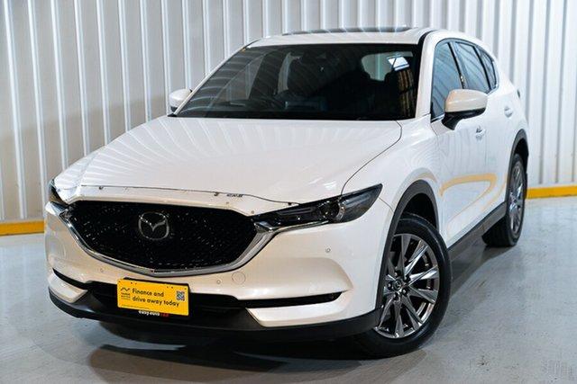 Used Mazda CX-5 KF4W2A Akera SKYACTIV-Drive i-ACTIV AWD Hendra, 2018 Mazda CX-5 KF4W2A Akera SKYACTIV-Drive i-ACTIV AWD White 6 Speed Sports Automatic Wagon