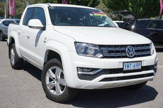 2018 Volkswagen Amarok 2H MY18 TDI550 4MOTION Perm Sportline White 8 Speed Automatic Utility.