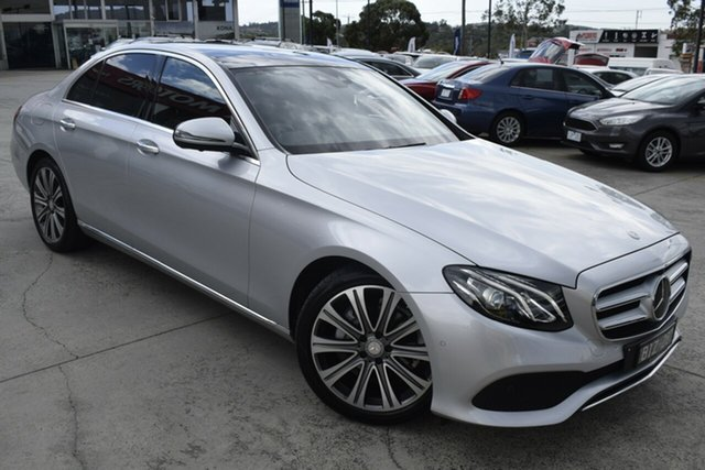 Used Mercedes-Benz E-Class W213 E200 9G-Tronic PLUS Ferntree Gully, 2016 Mercedes-Benz E-Class W213 E200 9G-Tronic PLUS Silver 9 Speed Sports Automatic Sedan