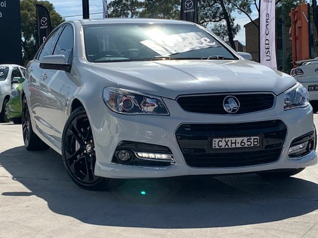 Used Holden Commodore VF MY14 SS V Redline Liverpool, 2014 Holden Commodore VF MY14 SS V Redline White 6 Speed Sports Automatic Sedan