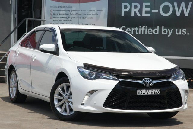 Pre-Owned Toyota Camry ASV50R Atara S Guildford, 2016 Toyota Camry ASV50R Atara S Diamond White 6 Speed Sports Automatic Sedan