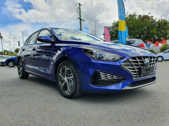 New Hyundai i30 PD.V4 MY21 Springwood, 2020 Hyundai i30 PD.V4 MY21 Intense Blue 6 Speed Sports Automatic Hatchback