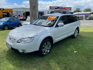 2007 Subaru Outback B4A MY08 R AWD Premium Pack White 5 Speed Sports Automatic Wagon.