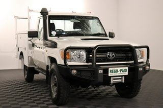 2011 Toyota Landcruiser VDJ79R MY10 Workmate French Vanilla 5 speed Manual Cab Chassis.