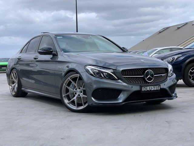 Used Mercedes-Benz C-Class W205 807MY C43 AMG 9G-Tronic 4MATIC Liverpool, 2016 Mercedes-Benz C-Class W205 807MY C43 AMG 9G-Tronic 4MATIC Grey 9 Speed Sports Automatic Sedan