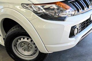 2017 Mitsubishi Triton MQ MY17 GLX Double Cab White 5 Speed Sports Automatic Cab Chassis.