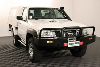 2013 Nissan Patrol GU 6 Series II DX White 5 speed Manual Cab Chassis.