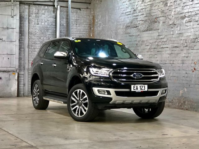Used Ford Everest UA II 2019.00MY Titanium Mile End South, 2019 Ford Everest UA II 2019.00MY Titanium Black 10 Speed Sports Automatic SUV