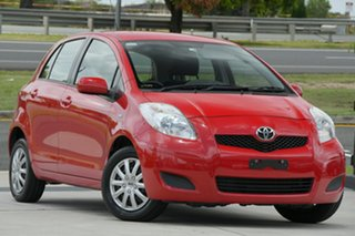 2011 Toyota Yaris NCP130R YR Red 5 Speed Manual Hatchback.