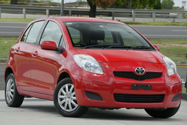 Used Toyota Yaris NCP130R YR North Lakes, 2011 Toyota Yaris NCP130R YR Red 5 Speed Manual Hatchback