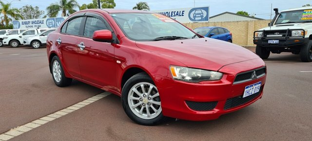 Used Mitsubishi Lancer CJ MY09 ES East Bunbury, 2009 Mitsubishi Lancer CJ MY09 ES Red 6 Speed Constant Variable Sedan