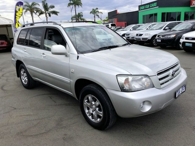 Used Toyota Kluger MCU28R Upgrade CVX (4x4) Cheltenham, 2006 Toyota Kluger MCU28R Upgrade CVX (4x4) Silver 5 Speed Automatic Wagon