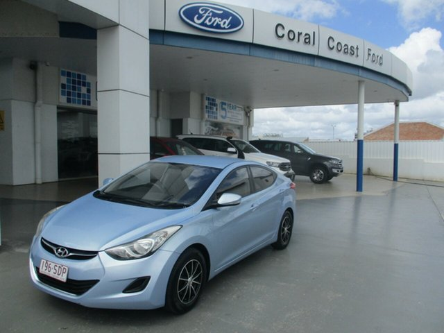 Used Hyundai Elantra MD Active Bundaberg, 2011 Hyundai Elantra MD Active Blue 6 Speed Automatic Sedan