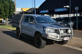 2016 Toyota Hilux GUN126R SR (4x4) Silver 6 Speed Automatic Dual Cab Chassis