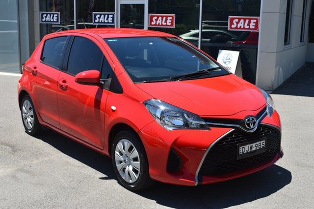 Used Toyota Yaris NCP131R SX Gosford, 2016 Toyota Yaris NCP131R SX Red 4 Speed Automatic Hatchback