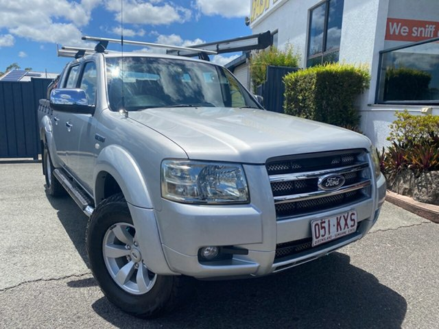 Used Ford Ranger PJ XLT Crew Cab Slacks Creek, 2008 Ford Ranger PJ XLT Crew Cab Silver 5 Speed Automatic Utility