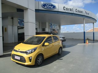 2017 Kia Picanto JA MY18 S (AEB) Yellow 4 Speed Automatic Hatchback.