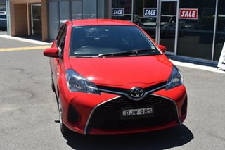 2016 Toyota Yaris NCP131R SX Red 4 Speed Automatic Hatchback.