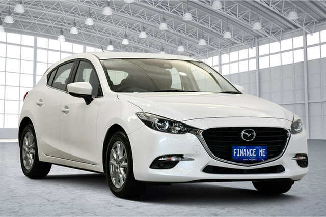Used Mazda 3 BN5478 Touring SKYACTIV-Drive Victoria Park, 2017 Mazda 3 BN5478 Touring SKYACTIV-Drive White 6 Speed Sports Automatic Hatchback