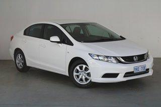 2015 Honda Civic 9th Gen Ser II MY15 VTi White 5 Speed Sports Automatic Sedan.